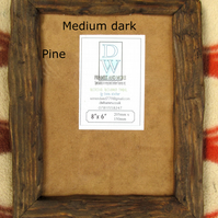 "Rustic,driftwood style, recycled pine picture frame to fit 8""x6"""