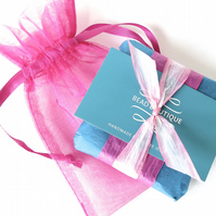 Hot pink - teal gift wrap to go with your bracelet purchase