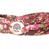 Valentine's bracelet for girls, wrap bracelet with floral Liberty fabric