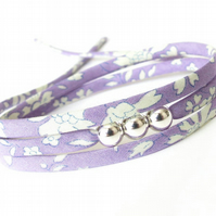 Girl's 12th birthday bracelet, lilac jewellery for girls