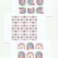 Rainbow Print Notecard Set - 3 Pop Art Postcards