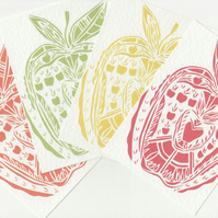 Apple Postcard Set. Pop Art A6 Prints