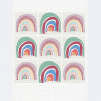 Rainbow A5 Print. Pop Art Retro Style Print.