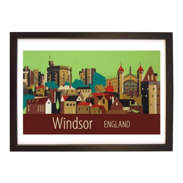 Windsor Castle black frame