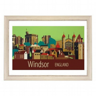 Windsor Castle white frame