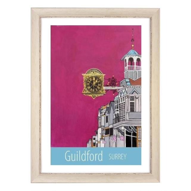 Guildford print - white frame