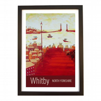 Whitby print - black frame