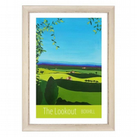 Lookout, Boxhill white frame