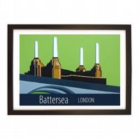 Battersea print black frame