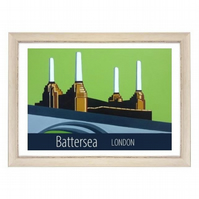 Battersea print white frame