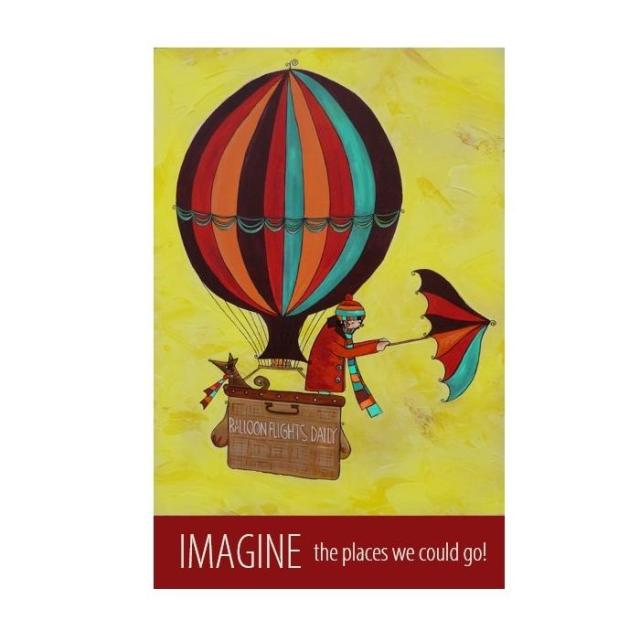 """Imagine"" print - unframed"