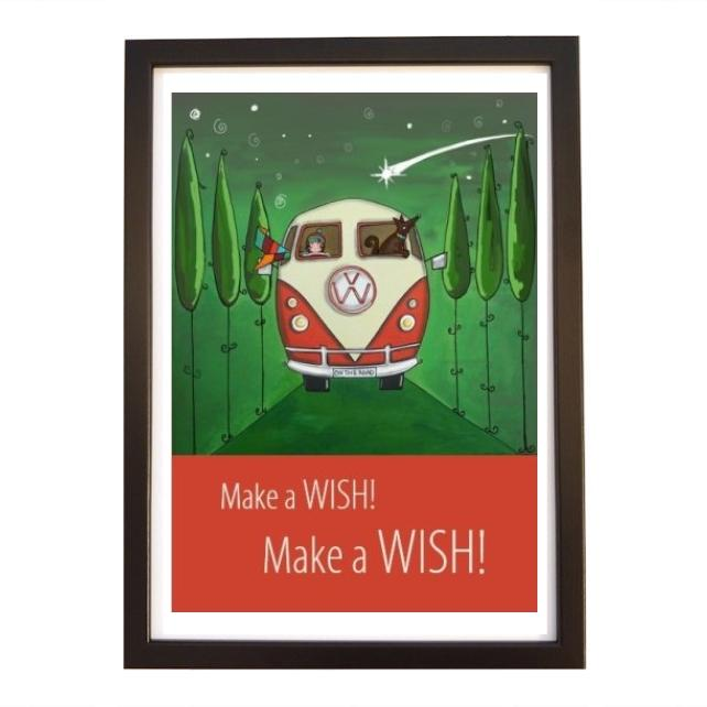 """Wish"" print black frame"
