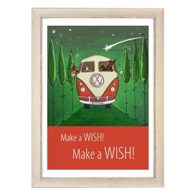 """Wish"" print white frame"