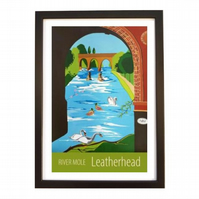Leatherhead, River Mole black frame
