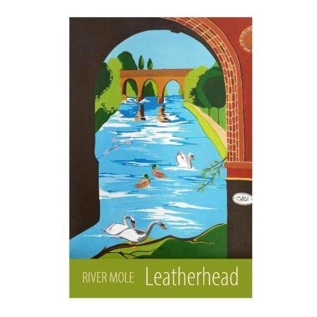 Leatherhead, River Mole - unframed