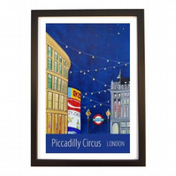 Piccadilly Circus black frame