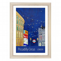 Piccadilly Circus white frame