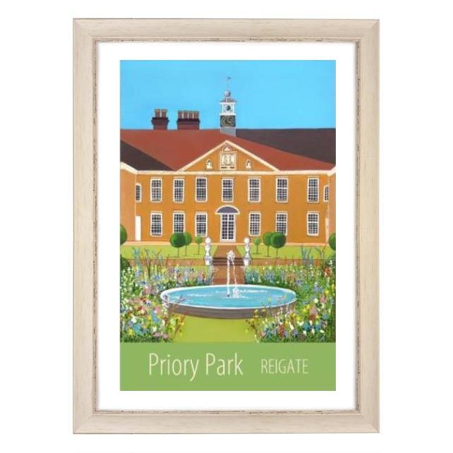 Priory Park Reigate white frame