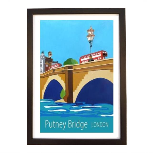 Putney Bridge London black frame