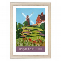 Reigate Heath white frame