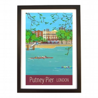 Putney Pier London black frame