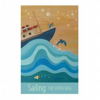 """Sailing"" print - unframed"