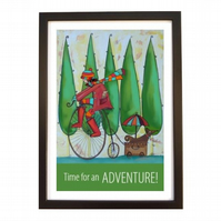 """Adventure"" print black frame"