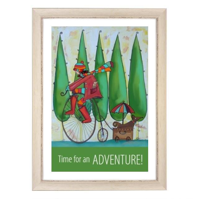"""Adventure"" print white frame"