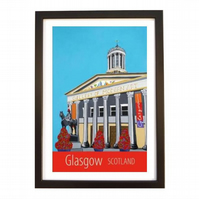 Glasgow print black frame