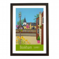 Bookham print black frame