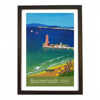 Bournemouth print black frame