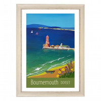 Bournemouth print white frame