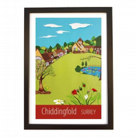 Chiddingfold print black frame