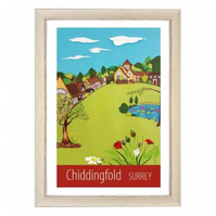 Chiddingfold print white frame