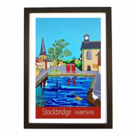 Stockbridge, Hampshire black frame