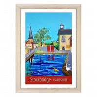 Stockbridge, Hampshire white frame