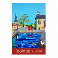Stockbridge, Hampshire - unframed