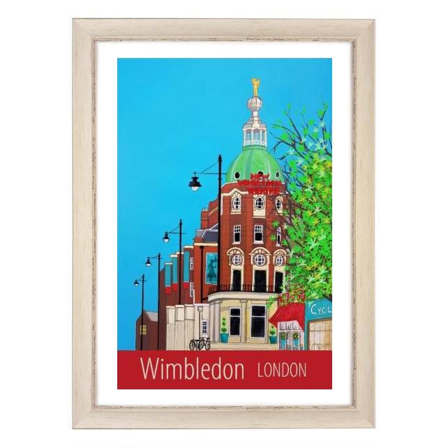 Wimbledon, London white frame