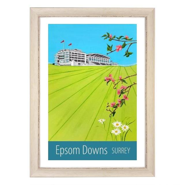 Epsom Downs, Surrey white frame