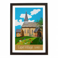 Capel Village, Surrey black frame