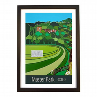 Master Park, Oxted black frame
