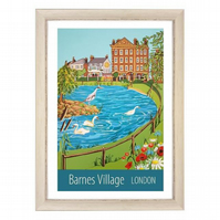 Barnes Village, London white frame