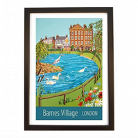 Barnes Village, London black frame