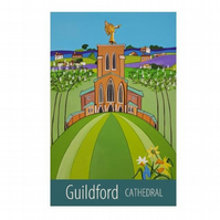 Guildford Cathedral print - unframed