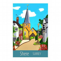 Shere, Surrey print - unframed