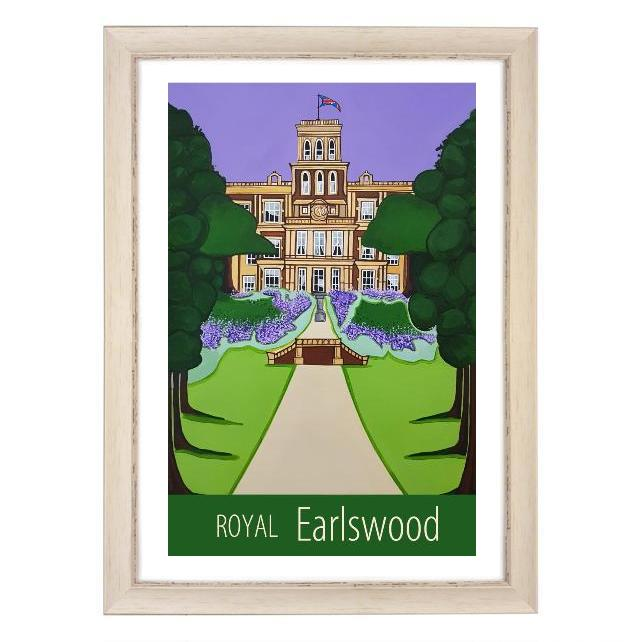 Royal Earlswood print - white frame