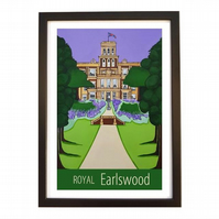 Royal Earlswood print - black frame