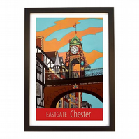 Chester Eastgate print - black frame