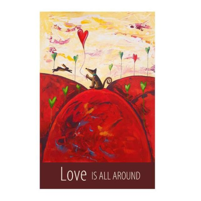 """Love Is All Around"" print unframed"