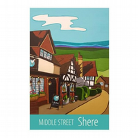 Shere, Middle Street print - unframed